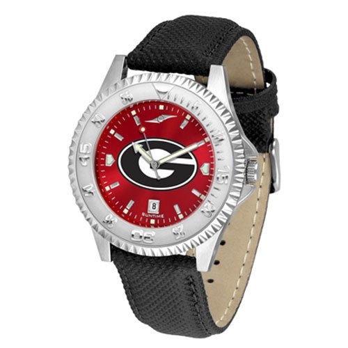 Suntime Georgia Bulldogs Ncaa Anochrome Competitor Mens Watch Poly/leather Band