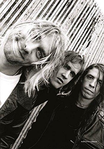Heart Rock Licensed Bandiera Nirvana - Band Shot, Tessuto, Multicolore, 110X75X0,1 cm