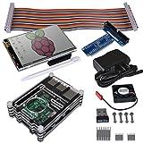 Kuman Raspberry Pi 3.5インチ ディスプレイ タッチパネル タッチスクリーン 冷却ファンとヒートシンク 保護ケース 320*480 解析度 Raspberry Pi2 / Pi3用タッチスクリーンTFTモニタセット(3.5インチ) タッチパネル+タッチペンRaspberry Pi B/B+/A+/Pi 2 も適応
