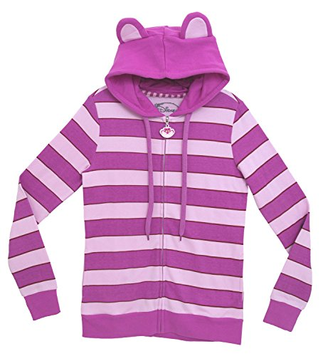 [Alice In Wonderland I Am Cheshire Disney Jrs Costume Hoodie Hooded Sweatshirt, XL] (Disney Cartoon Mad Hatter Costume)