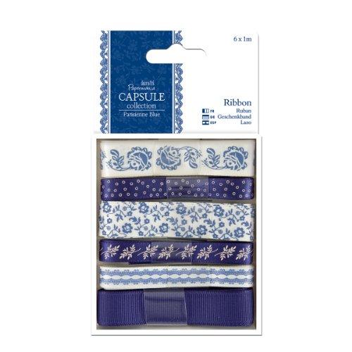 papermania-capsule-collection-ribbon-6-piece-parisienne-blue
