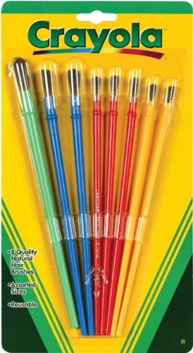 Crayola Paint Brushes 8 per Package, Assorted Colors & Sizes (Brush Package compare prices)