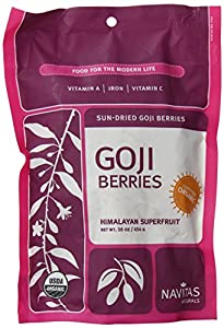 Navitas Naturals Organic Goji Berries, 1 Pound Pouches