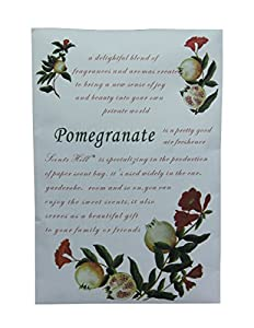 Scents Hill Fragrant Sachet Packets to Closet,Lot of 4 (Pomegranate)