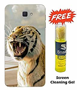 Case Cover Tiger Printed Multicolor Soft Back Cover For SAMSUNG Galaxy J5 Prime (Screen Cleaning Gel Free)