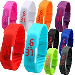 Sunshine Digital LED Waterproof Scratchless Watch Return Gifts for Kids (Set of 10)