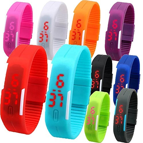 Sunshine Digital LED Waterproof Scratchless Watch Return Gifts For Kids Set Of 10