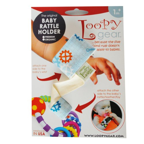 Baby Rattle Holder Tools 'N Gears Natural Loopy