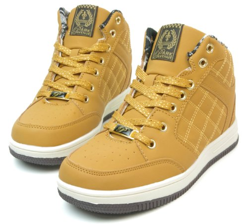 (Even) PARK AVENUE mid cut quilting dance sneakers wheat 23.0