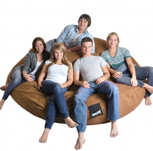 Sensational 8 Round Earth Brown Slacker Sack Biggest Foam Bean Bag Theyellowbook Wood Chair Design Ideas Theyellowbookinfo