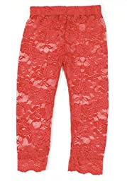 Lace Leggings Infant Toddler (2-4T, Red)