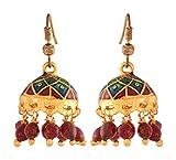 Ganapathy Gems Enamel Jhumki Earrings for Women (10092_GPJ)