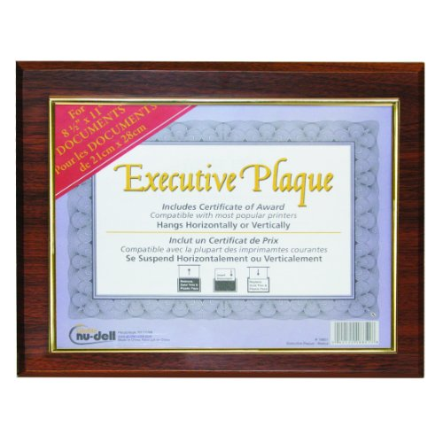 Nudell 13 X 10.5 Inches Prestige Executive Award Plaque, Walnut (18851M) front-148579