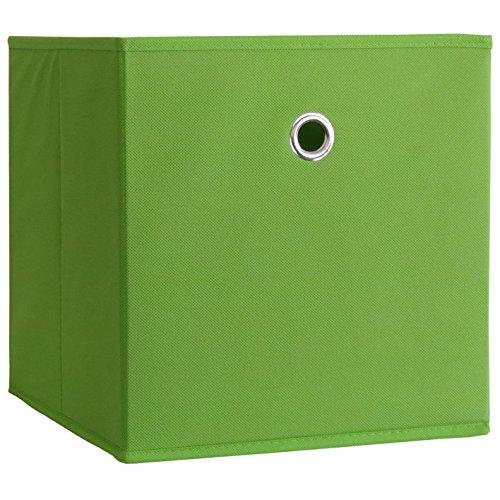 911262 Faltbox Klappbox Boxas Sammelbox Stoffbox ohne Deckel, 28 x 27 x 27 cm, grün