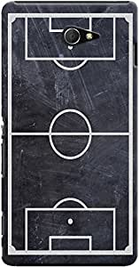 Kasemantra Soccer On Slate Case For Sony Xperia M2