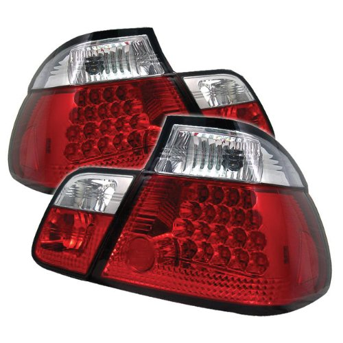 Redlines Tl-Be4699-4D-Led-Rc Red/Clear Medium Led Tail Light For Bmw E46 3-Series'99-'01 4Dr - Pair