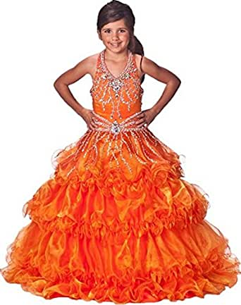 Amazon.com: ACE Beads Ball Gown Pageant Party Prom Dresses