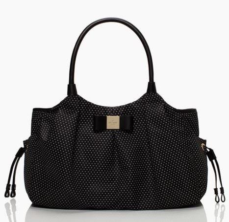 Kate Spade New York Verandah Place Grosgrain Stevie Baby Bag (Black/Cream) front-470088