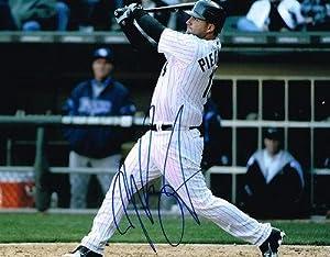 A.J AJ PIERZYNSKI signed 11X14 photo CHICAGO WHITE SOX COA - Autographed MLB Photos by Sports Memorabilia