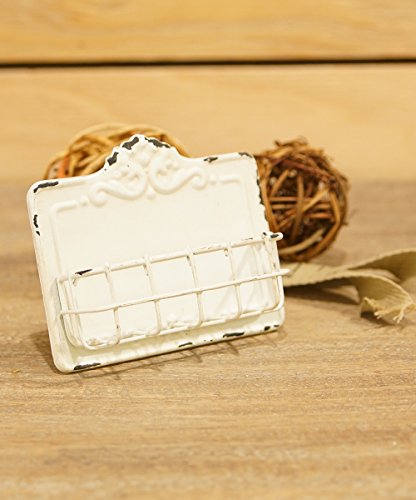 Antique White Business Card Holder (Business Card Stand Holder compare prices)