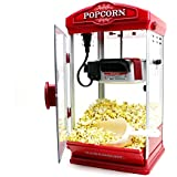 8oz Red Hot-Oil Popcorn Maker Machine by Paramount - New 8 oz Capacity Theater Popper