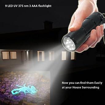 Abco tech blacklight flashlight urine detector review