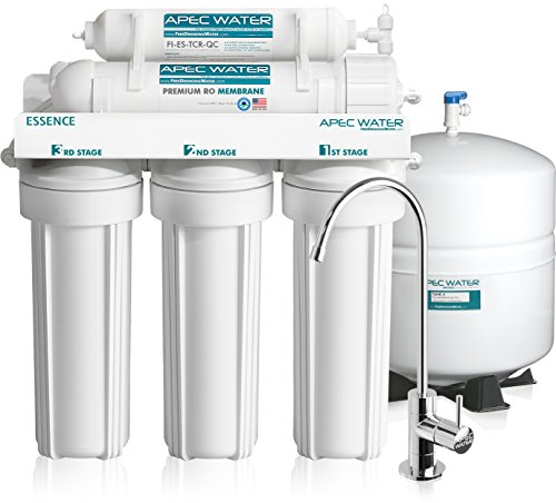 APEC Water Systems ROES-50 Top Tier, Built in USA ,Ultra Safe, Premium 5-Stage Reverse Osmosis Drinking Water Filter System