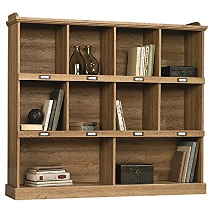 "47.52"" Barrister Lane Bookcase Cubbyhole Storage Furniture (Scribed Oak)"