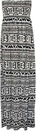 WearAll Plus Size Women's Printed Bandeau Maxi Dress - Large Aztec - US 12-14 (UK 16-18)