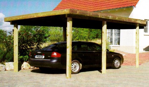 carport flachdachcarport silverstone viii 300x500 cm autogarage bausatz flachdachcarport. Black Bedroom Furniture Sets. Home Design Ideas