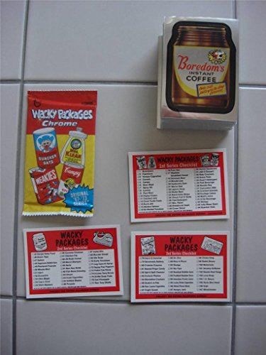 2014 TOPPS WACKY PACKAGES CHROME - COMPLETE BASE SET OF 110 INCLUDE 3 CHECKLIST! (Wacky Packages Set compare prices)