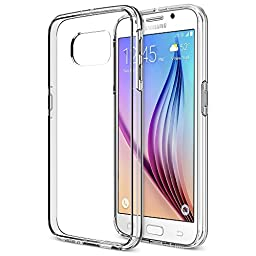 Galaxy S6 Case, Trianium [Clear Cushion] Samsung Galaxy S6 Case Bumper *Scratch Resistant* Shock-Absorbing Cases and Clear Hard Back Panel - Clear