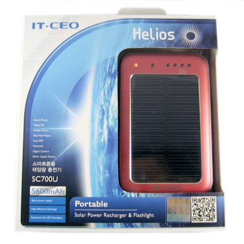 Hi Capacity Portable 5600mAh Li-Polymer SolarBurgundy color Battery Charger for Portable Devices Electronics, iPhone, iPod, iPad, LG, Samsung, Motorola Smart Phone, Cellphones, Galaxy Tab and MP3, GPS, Navigator, PSP, etc. With USB Interface.
