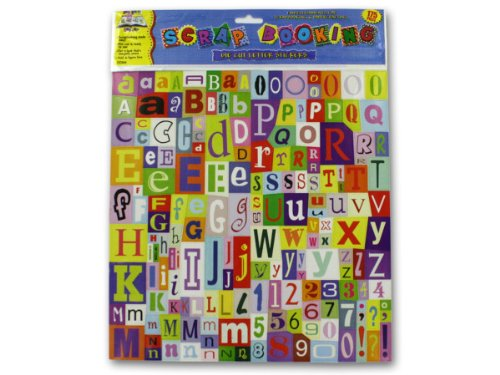 24 Packs of Large set die-cut letter stickers
