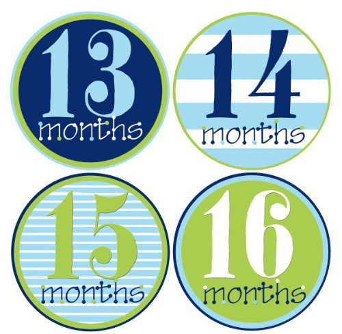 Mumsy Goose Baby Boy Stickers Monthly Age Stickers 13-24 Months