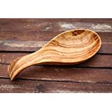 From The Earth - Olive Wood Kitchen Spoon Rest - Fair Trade & Handmade