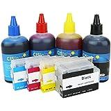 CISinks® Refillable Cartridge Kit for HP Printers - Officejet Pro 6100 6600 6700 Officejet 7110 7610 7612 - HP 932 / 933