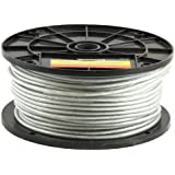 Forney 70451 Wire Rope, Vinyl Coated Aircraft Cable, 250-Feet-by 3/32-Inch thru 3/16-Inch