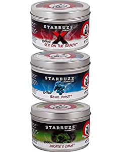 3 Packs Starbuzz Hookah Shisha Tobacco Flavors Best Sellers Value Pack 100g, Free Shipping available at Amazon for Rs.6273