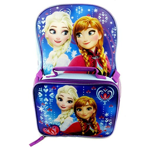 Disney Frozen Elsa and Anna Backpack with Detachable Lunch (Volcom Cooler Bag compare prices)