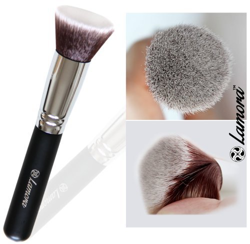Foundation Makeup Brush Flat Top Kabuki for Face - Perfect For Blending Liquid, Cream or Flawless Powder Cosmetics - Buffing, Stippling, Concealer - Premium Quality Synthetic Dense Bristles! (Kabuki Brushes compare prices)