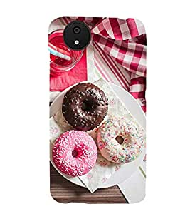 EVENING TIME TRIPPLE DONUT FEAST PIC 3D Hard Polycarbonate Designer Back Case Cover for Micromax Android A1::Micromax Canvas A1 AQ4502