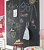 R-STYLE お部屋やカフェや店舗のインテリアに 貼って剥がせる 黒板ステッカー 黒板消しクロス付きセット (200×60cmサイズ(黒板消しクロス付))
