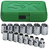 SK 1955 15 Piece 1/2-Inch Drive 6 Point 10-Millimeter to 24-Millimeter Socket Set