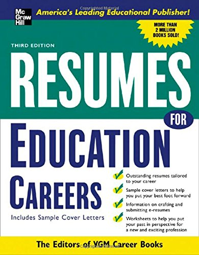 Resumes For Education Careers (Mcgraw-Hill Professional Resumes)