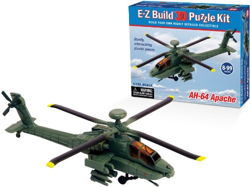 E-Z Build Puzzle - AH-64 Apache Helicopter