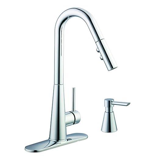 Glacier Bay 950 Single-Handle Pull-Down Kitchen Faucet Soap Dispenser Chrome