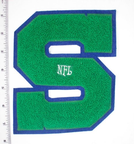 "Vintage Seattle Seahawks Chenille Letter Varsity Jacket Patch 6 1/2"" high (sew on) Throwback at Amazon.com"