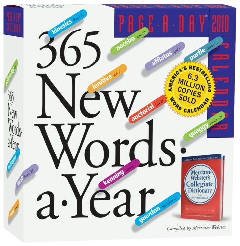 365 New Words Page-A-Day Calendar 2010 (Page-A-Day Calendars): Merriam-Webster: 9780761152583: Amazon.com: Books