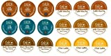 18 Count - Cafe Escape Variety K Cup For Keurig K-Cup Brewers - Cafe Caramel, Cafe Vanilla, Cafe Mocha, Chai Latte, Milk Chocolate Hot Cocoa, Dark Chocolate Hot Cocoa
